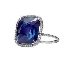 5.65 carat Cushion tanzanite diamonds engagement r